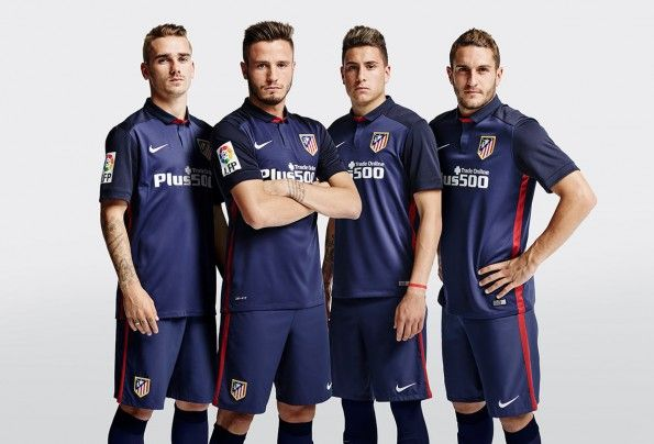 Kit Atletico Madrid away blu 2015-16