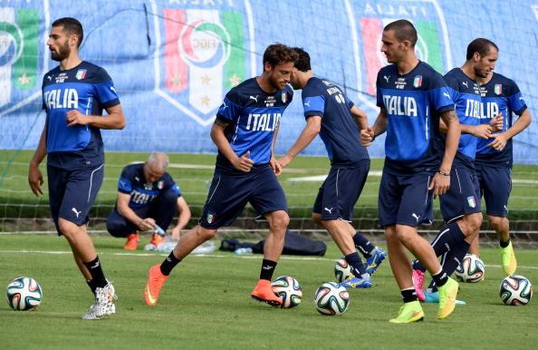 Allenamento Italia ai Mondiali 2014