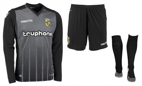 Divisa portiere Vitesse grigio-nera 2015-16