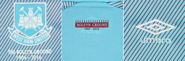 Dettagli divisa trasferta West Ham 2015-16
