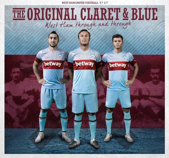West Ham away kit 2015-2016