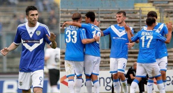 Maglie Brescia con Adidas (2013-2014) e Joma (2014-2015)