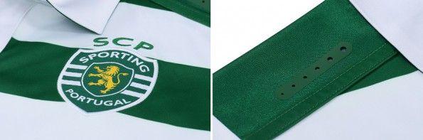 Dettagli parte alta maglia Sporting 2015-2016