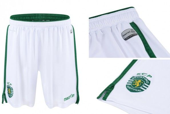 Pantaloncini Sporting Lisbona 2015-2016 bianchi
