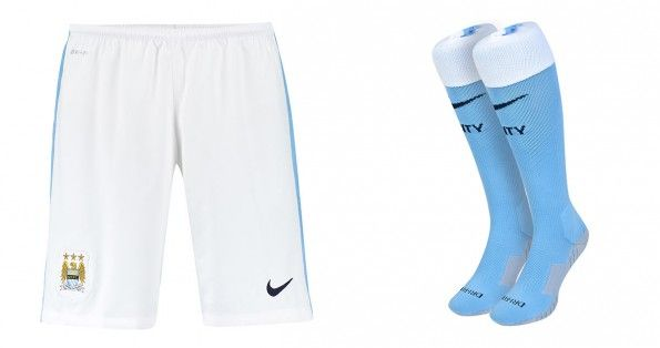 Manchester City pantaloncini calze home 2015-16