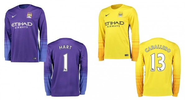 Manchester City maglie portiere 2015-16