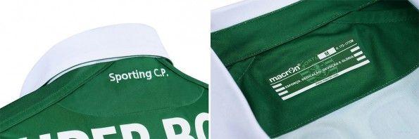 Dettagli colletto maglia Sporting 2015-2016 home