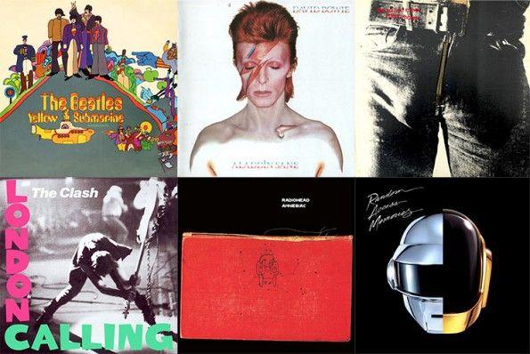 Le copertine di famosi album rock