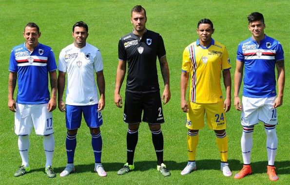 Divise Sampdoria 2015-16 presentate a Pinzolo