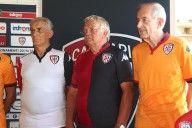 Poli, Tomasini, Reginato, presentazione maglie Cagliari
