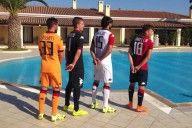 Font nome numeri Cagliari Kappa 2015-16