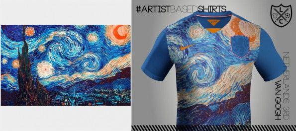 Maglia Olanda Nike Van Gogh