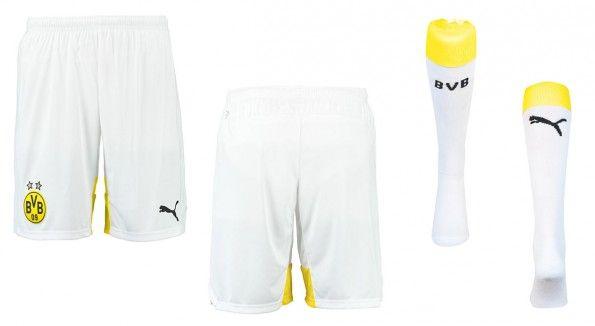 Pantaloncini calzettoni BVB third bianchi