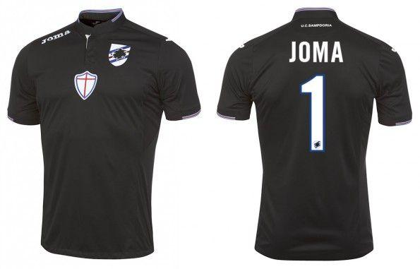 Maglia portiere Sampdoria 2015-16 nera