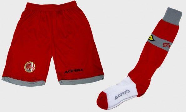 Pantaloncini calze rossi Alessandria 2015-2016