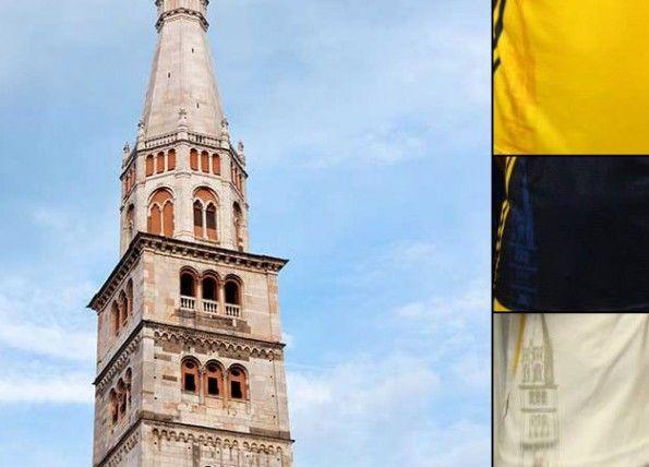 La Ghirlandina sulle maglie del Modena