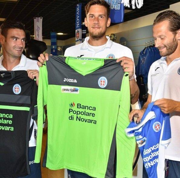 Novara maglia portiere verde 2015-2016