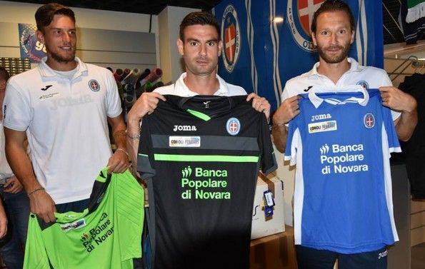 Terza maglia Novara 2015-2016 nera