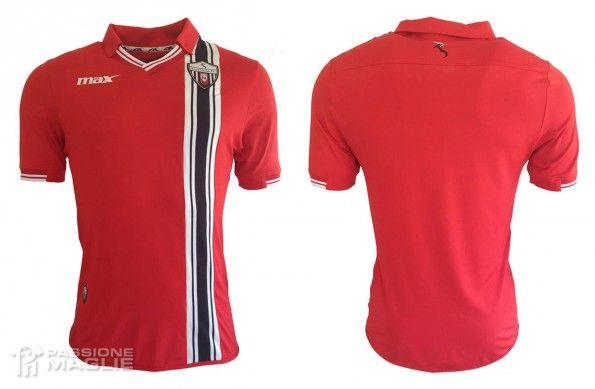 Seconda maglia Ascoli 2015-2016 rossa