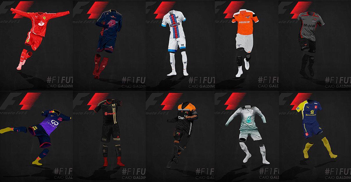 F1 Kits, le maglie da calcio della Formula 1