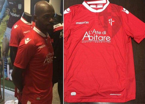 Seconda maglia Padova rossa 2015-2016