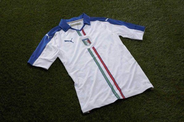 Maglia Italia trasferta tricolore 2016