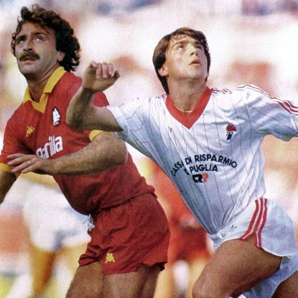 Bari vs Roma, Serie A 1985-1986. Roberto Pruzzo e Giovanni Loseto