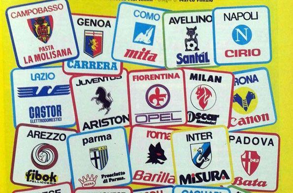Serie A anni 1980, stemmi e sponsor