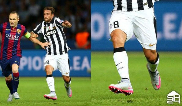 Claudio Marchisio (Juventus) - Nike Mercurial Superfly IV Silver Storm
