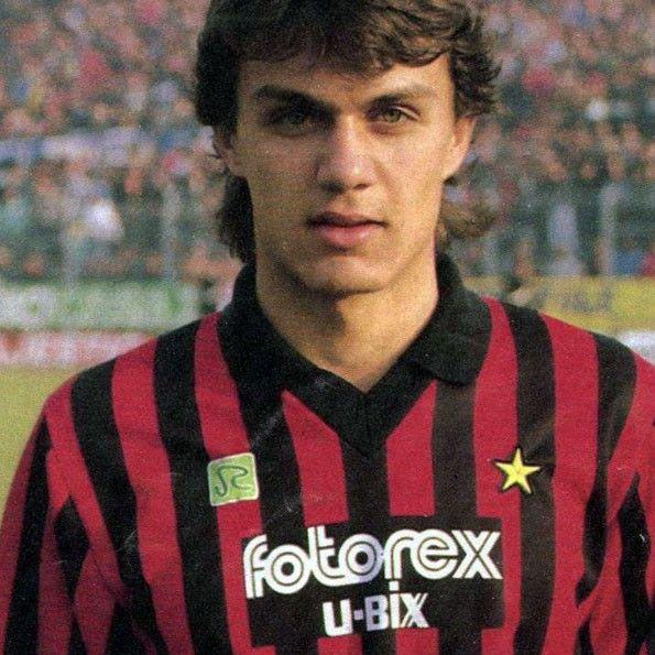 Milan home, 1986. Paolo Maldini