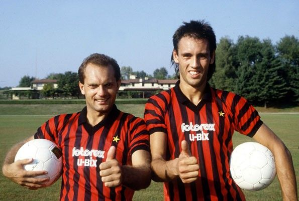 Milan home, 1985. Ray Wilkins e Mark Hateley