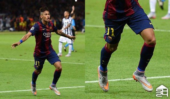 Neymar Jr. (Barcellona) - Nike Hypervenom II Phantom Silver Storm