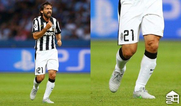 Andrea Pirlo (Juventus) - Nike Tiempo Legend V Silver Storm
