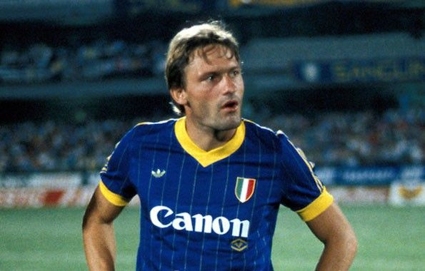 Verona home 1985-1986. Preben Elkjær Larsen