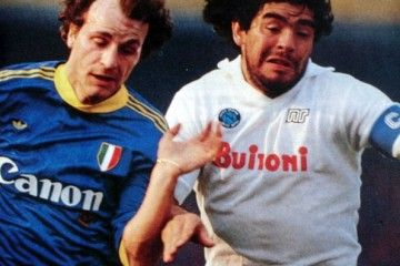 Verona vs Napoli, Serie A 1985-1986. Mauro Ferroni e Diego Armando Maradona