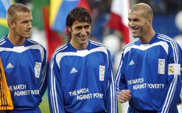 Zidane, Beckham e Raul