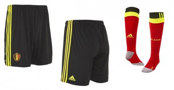 Pantaloncini e calzettoni Belgio home 2016-2017