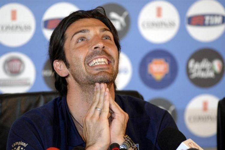 Gigi Buffon in conferenza stampa