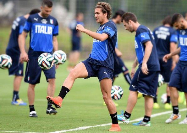 Cerci in allenamento con l'Italia