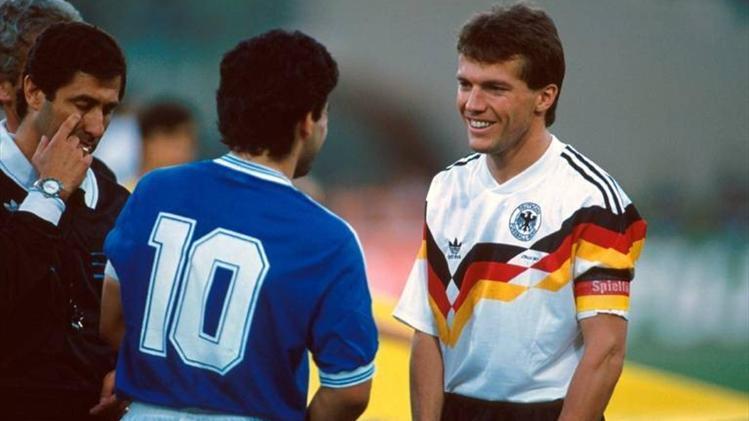 Maradona e Matthaus, 1990