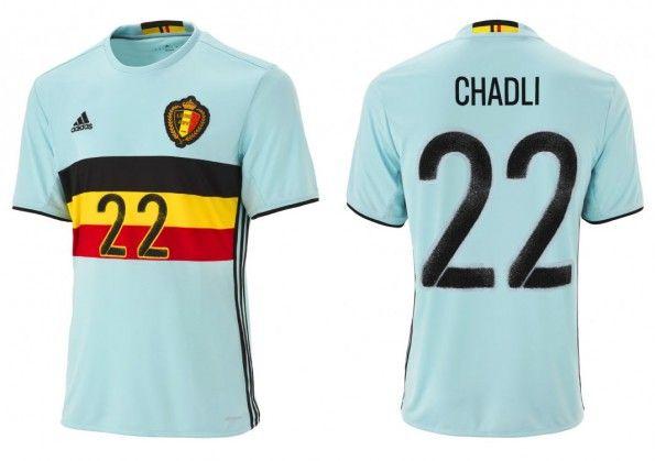 Seconda maglia Belgio Europei 2016 adidas
