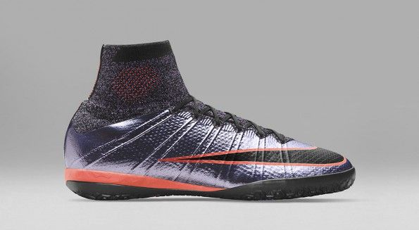 Scarpe calcetto MercurialX lilla Liquid Chrome Nike