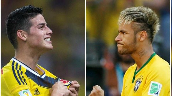 Neymar e James Rodriguez