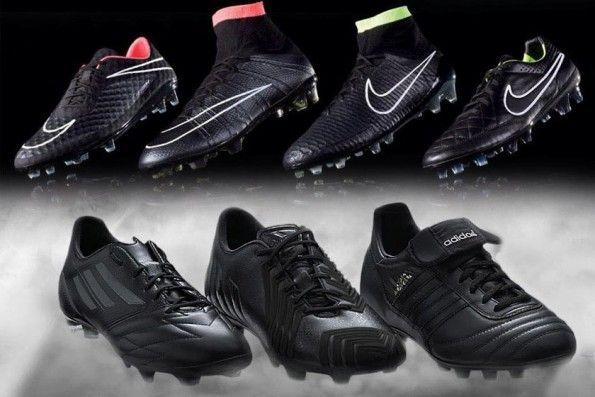 Nike vs adidas total black
