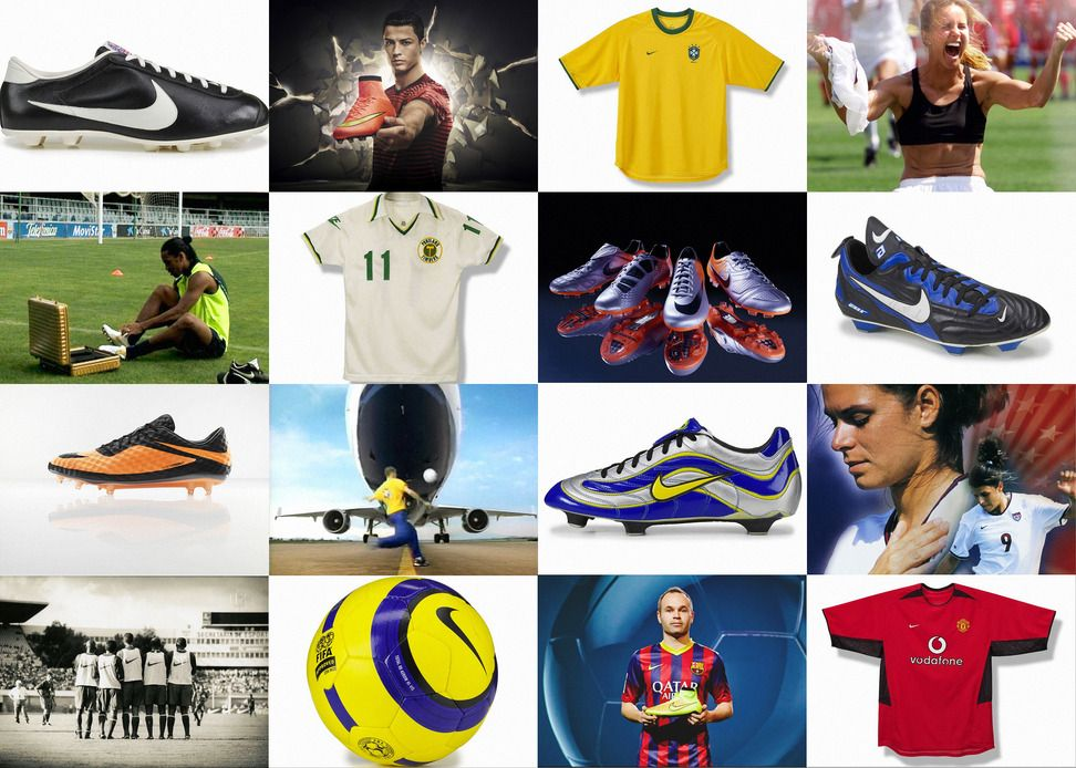 Storia calcio Nike 1978