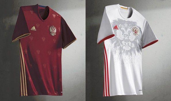 L'aquila è protagonista sulle maglie della Russia per gli Europei 2016