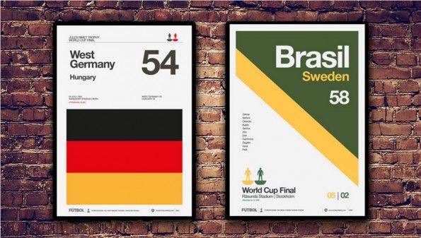 Poster Mondiali Svizzera 1954 Svezia 1958