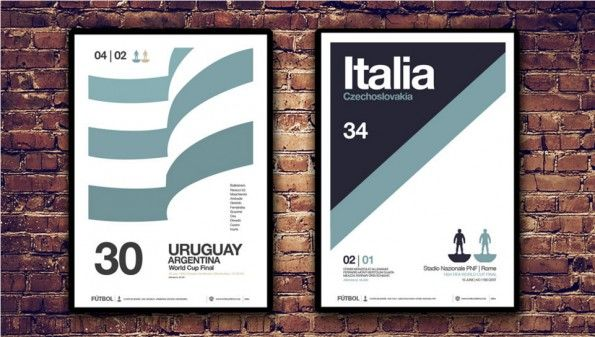 Poster Uruguay 1930 Italia 1934