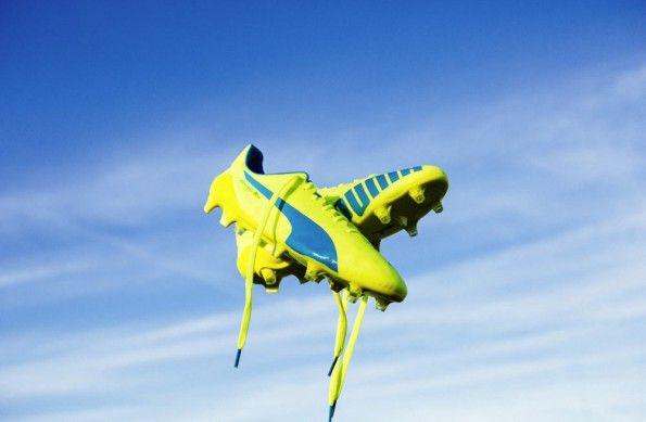 Scarpe evoSpeed Puma gialle e blu