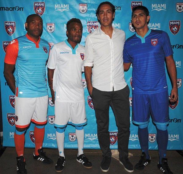 Presentazione kit Miami FC 2016-17 con Nesta